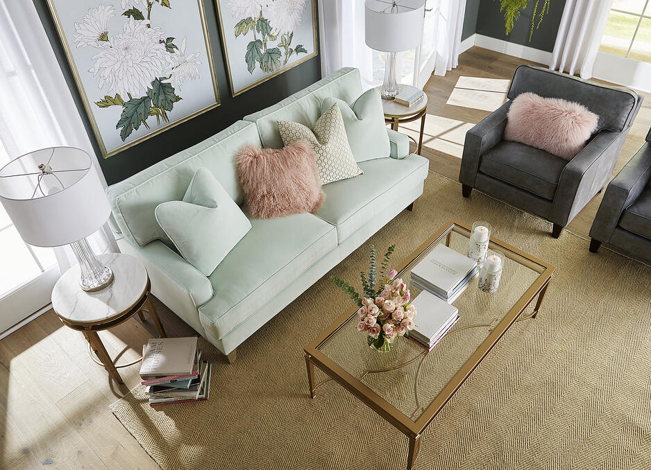 overhead-shot-mint-couch-grey-chair-gold