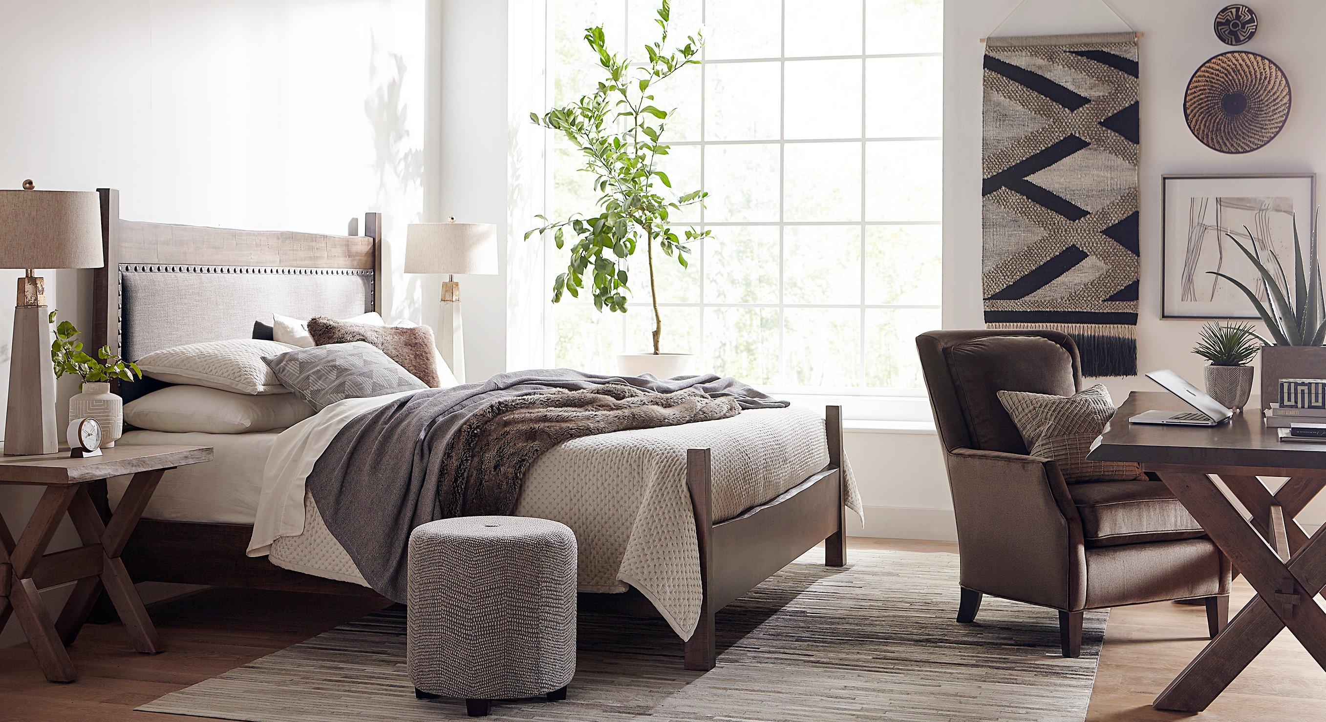 bedroom-scene-linen-neutrals-desk-chair-sunlight