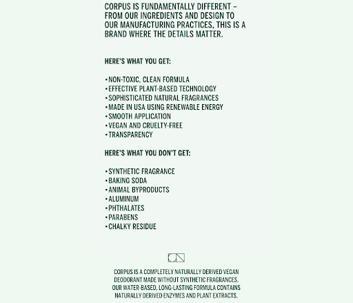 corpus-product-description-email-screenshot