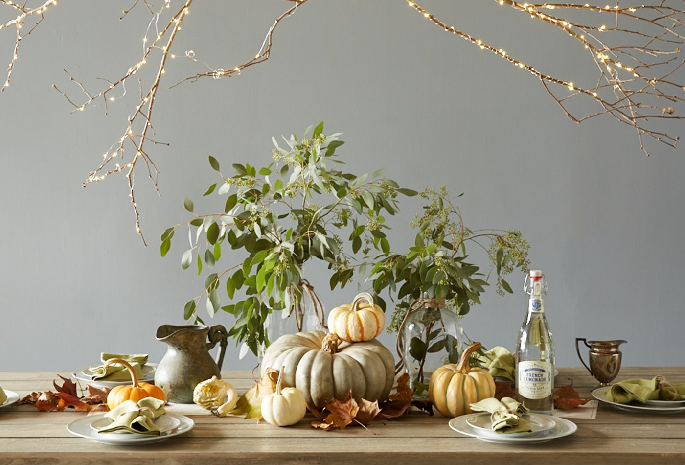 forage-table-setting-plants-branches-lights