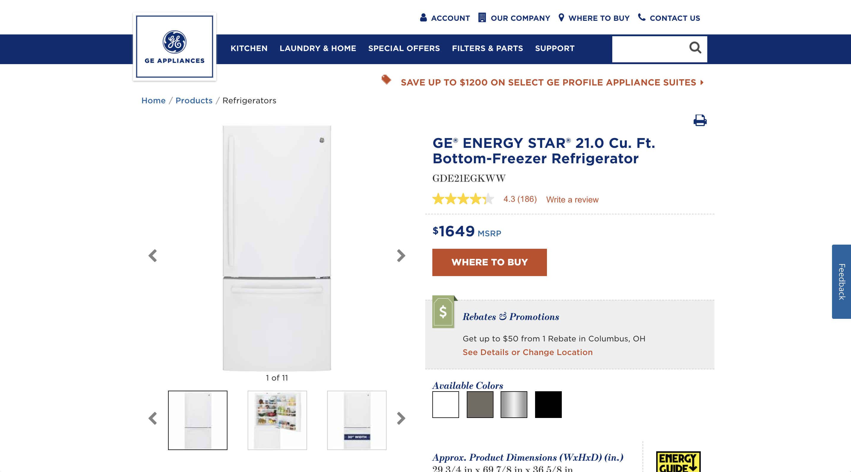 general-electric-refrigerator-product-detail-page