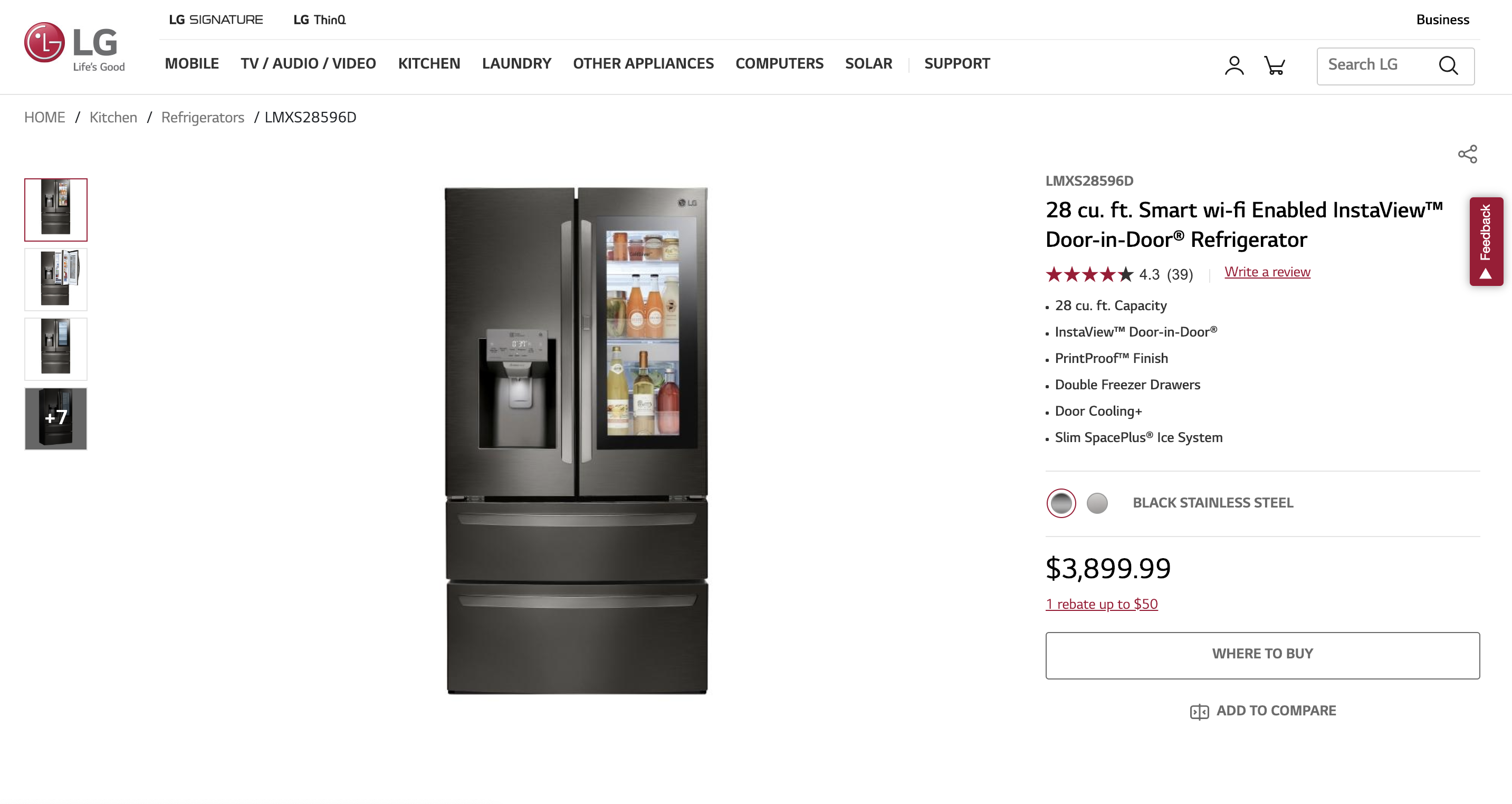LG-smart-refrigerator-product-detail-page