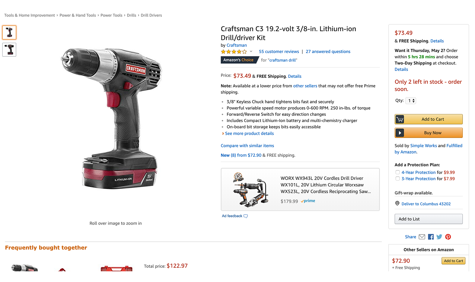 amazon-craftsman-c3-product-detail-page