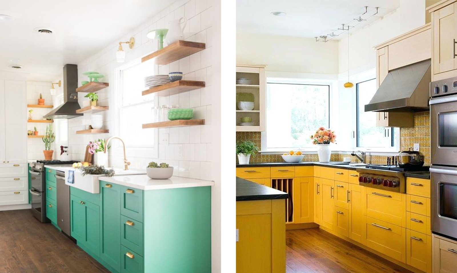 kitchens-green-cabinets-kitchen-yellow-cabinets
