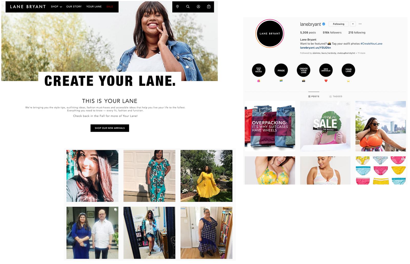 lane-bryant-website-IG-collage