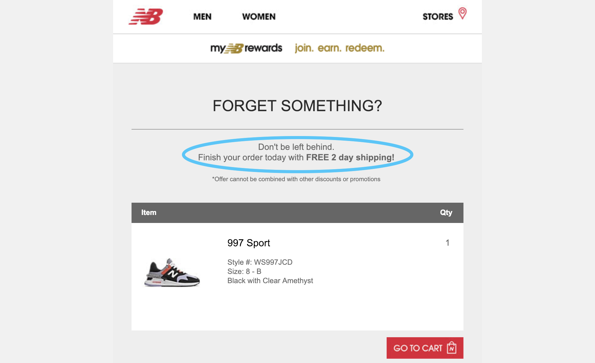 new-balance-abandoned-cart-second-reminder-email