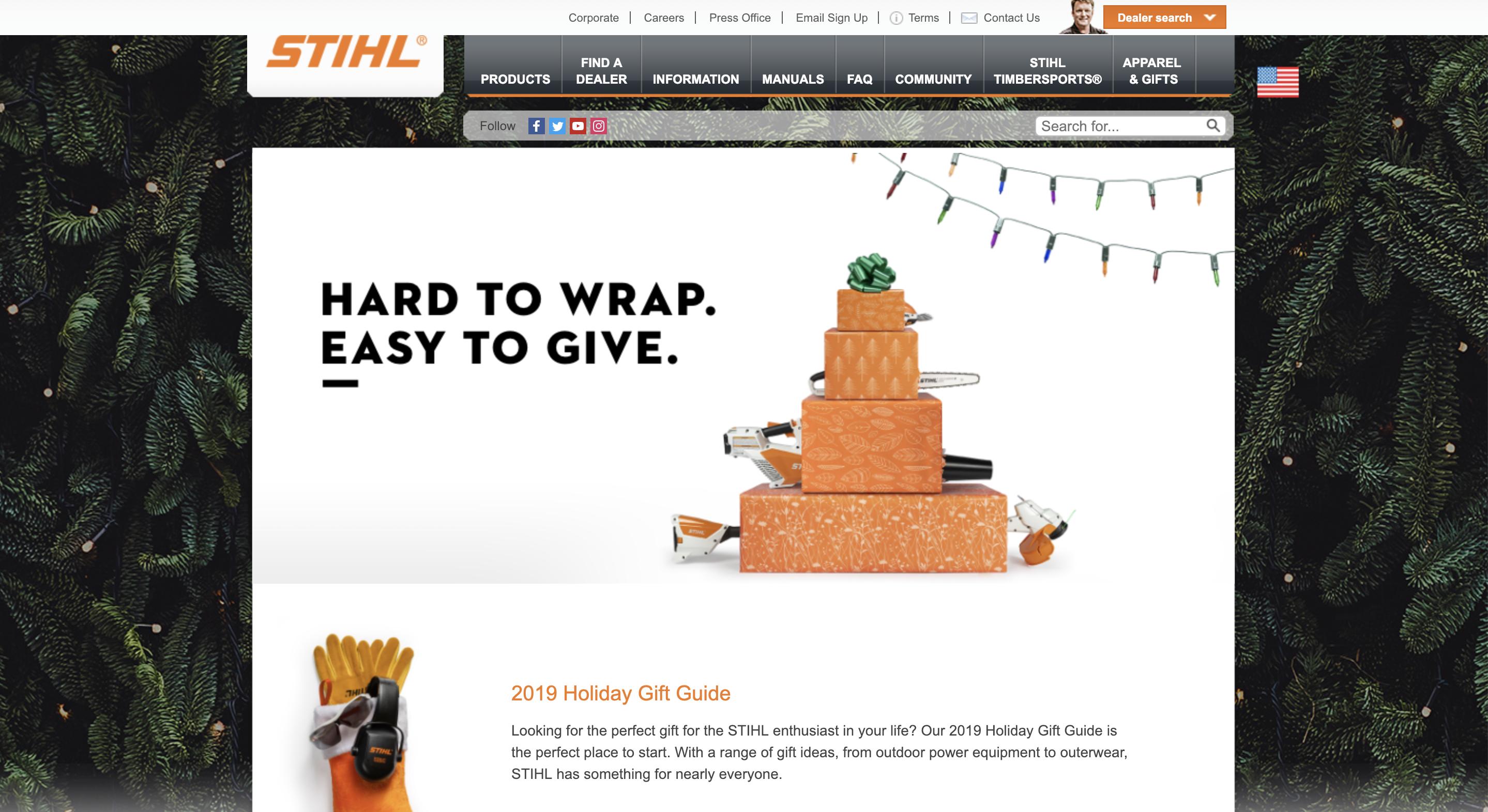 stihl-holiday-gift-guide-screenshot