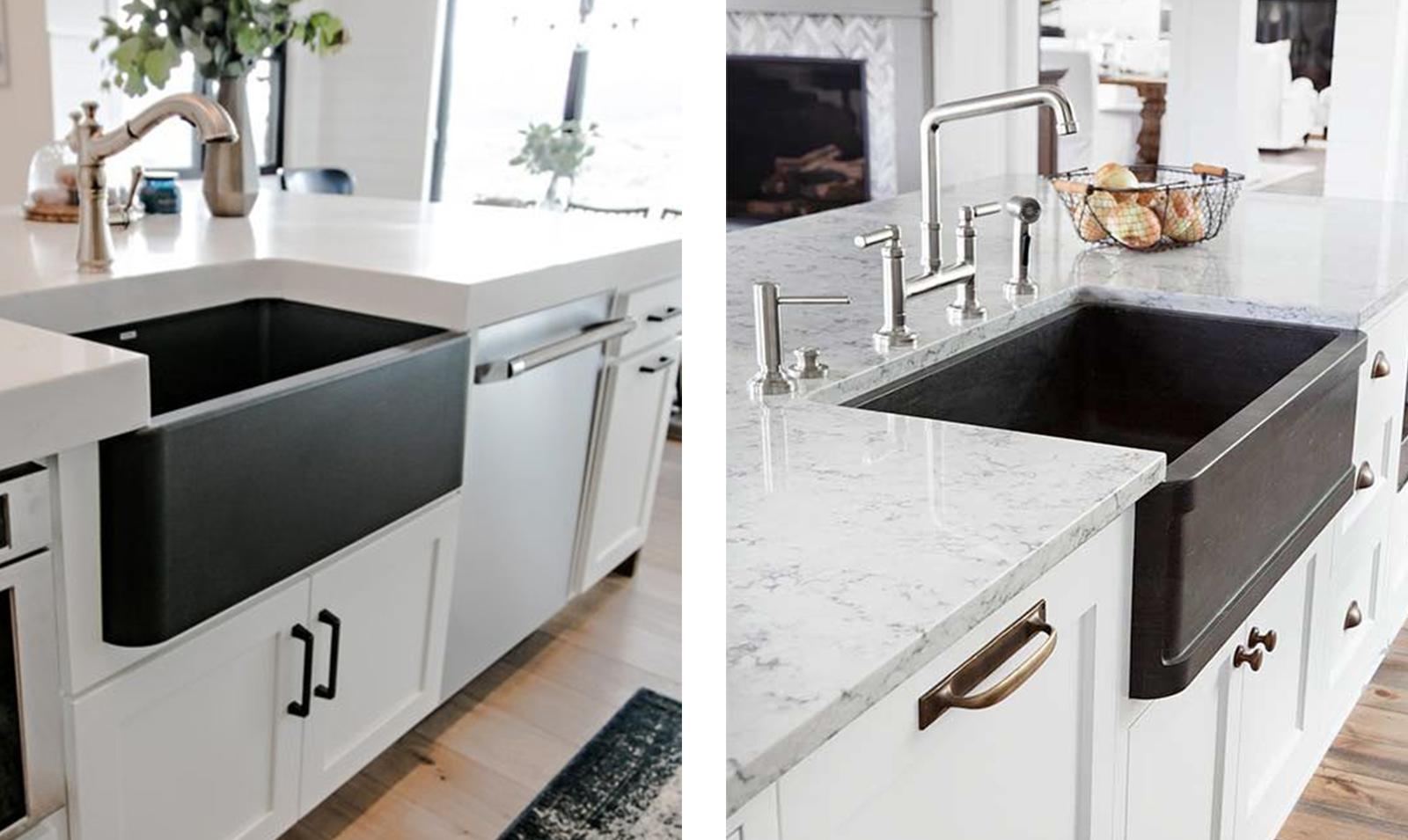 two-farmhouse-sinks-metal-finish