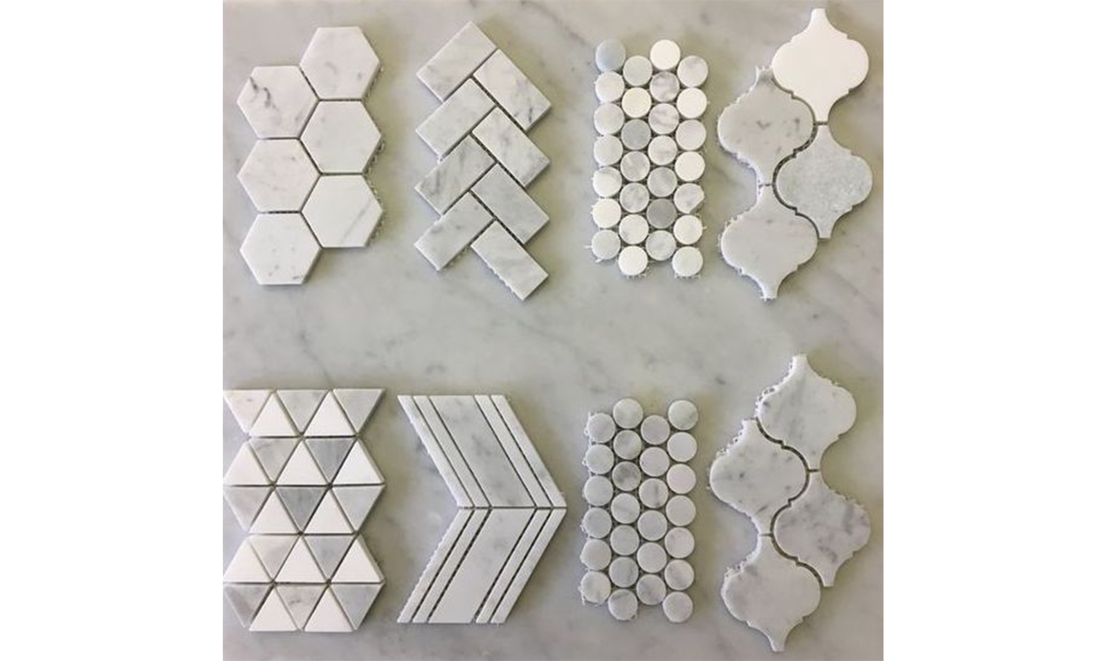 white-granite-geometric-backsplash-tiles